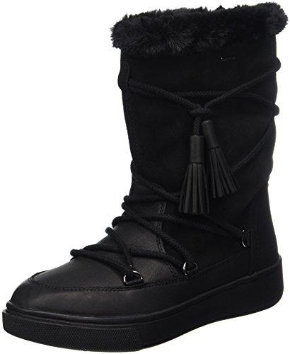 Geox Womens D Mayrah B Abx Een Leren Lange Laarzen Zwart