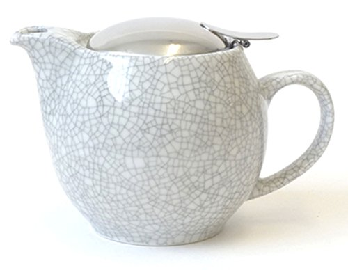 Bee House Ceramic Round Teapot (Crackle White)