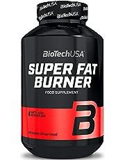 BioTech USA Super Fat Burner Pakket van 1 x 120 Tabletten - Vetverbrander - Carnitine - Extract van groene theebladeren - CLA - Garcinia Cambogia - Zink - Chroom - Gewichtsverlies - Afslanken