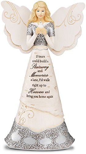 Elements Angel Statue - Elements Sympathy Angel Figurine by Pavilion, 8-Inch, If Tears Could Build a Stairway and Memories a Lane