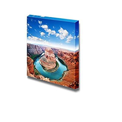 Beautiful Scenery Landscape of Horse Shoe Bend Located in North Rim Grand Canyon Page Arizona - Canvas Art Wall Art - 16