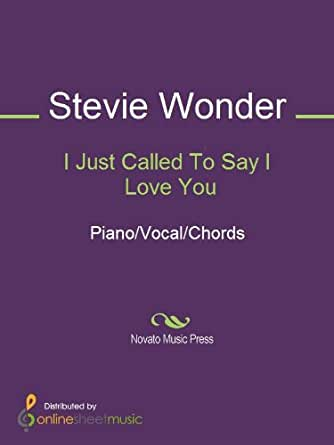 I Just Called To Say I Love You Kindle Edition By Stevie Wonder