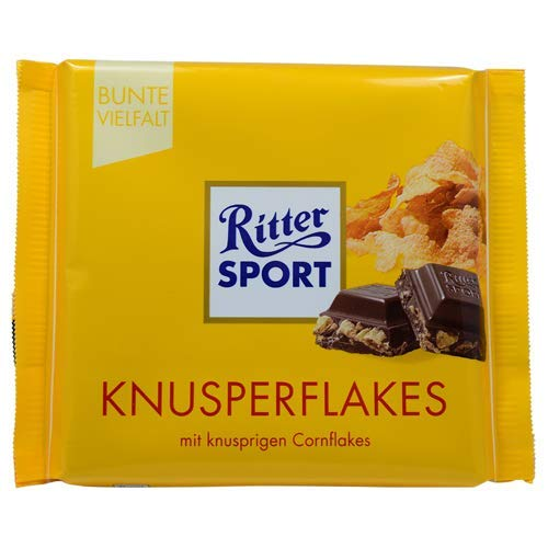 (Ritter Sport Knusperflakes (3 Bars each 100g) - fresh from Germany)