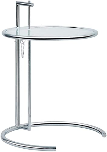 Mod Made Eileen End Table Side Table Adjustable Height, Silver