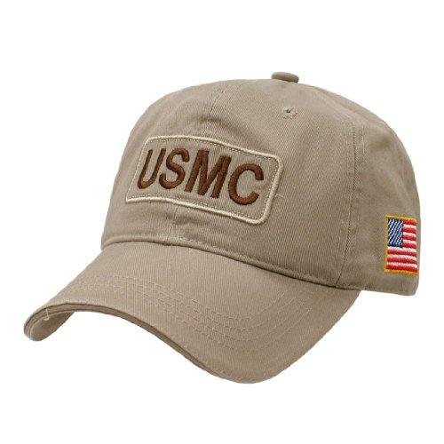 (Rapid Dom US Military Dual Flag Raid Polo Baseball Caps R89M USMC)