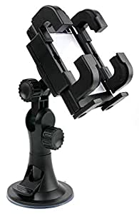 DURAGADGET 3 In 1 Vehicle Suction Windscreen / Dashboard / Vent Stand For Nokia Phones Including 5230 & 1616 + Car Charger