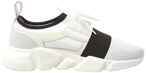 Multicolore Donna White Black Basse Ginnastica da Sneaker Scarpe Stokton qXzpaYq