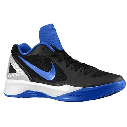 check out 868d5 b082a Galleon - Nike Women s Volley Zoom Hyperspike Black Royal Metallic Silver White  Volleyball Shoes - 12 M US