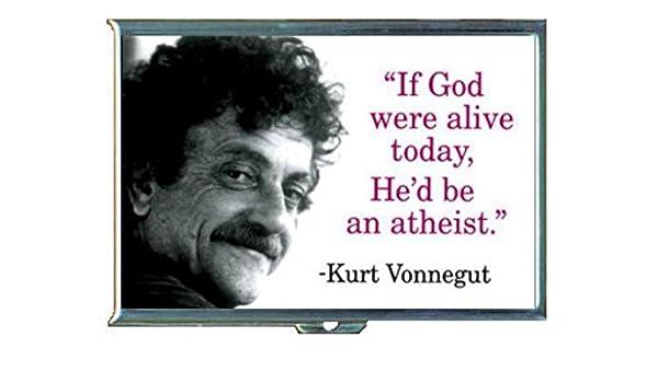 Amazon com : Kurt Vonnegut God Would Be An Atheist Stainless