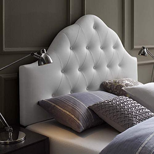 Modway Sovereign Tufted Button Faux Leather Upholstered Queen Headboard
