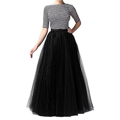 EllieHouse Womens Long Tutu Tulle Skirt PC02