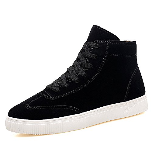 Men's Shoes Feifei Winter High Help Leisure Sport Plate Shoes 3 Colors (Color : Black, Size : EU39/UK6/CN39)