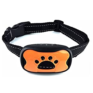[New Design] Dog Bark Collar. Safe Shock Training Device. Anti-Bark for Small/Medium Dogs. BEST Pet Safe Stop Device. Blue/Orange Shape Included. Adjustable Sensitivity Sound&Shock Bark Control. by Friends on Run
