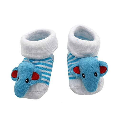 Cute Baby Socks Mickey Mouse Theme 3-12 Months w/Gift Box]()