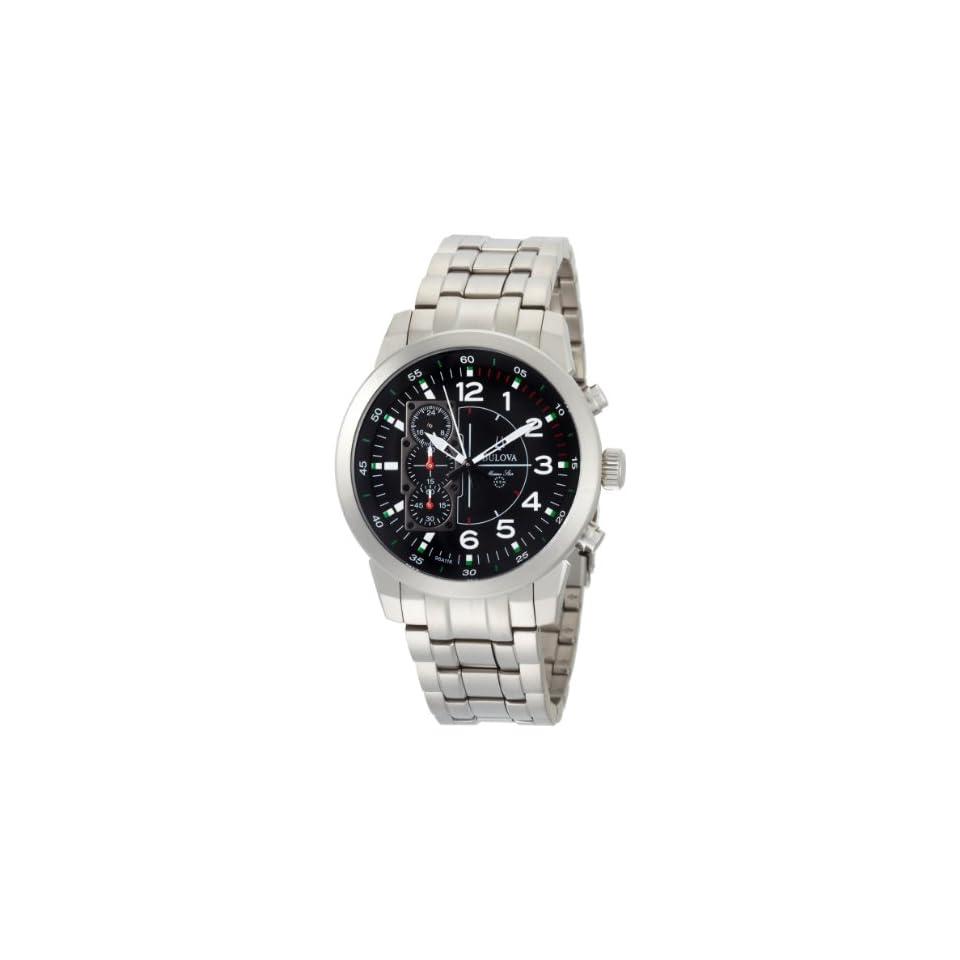 Bulova Mens 96A116 Marine Star Black Dial Watch