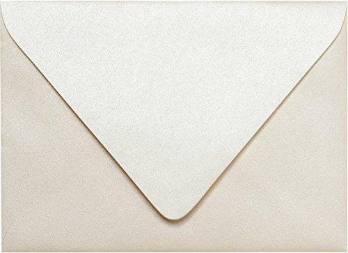 Invitations Cream (A-7 Champagne Cream Metallic Euro Flap Envelopes (5 1/4