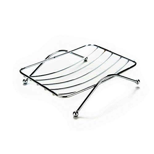 Soap Dish Tray , Bathroom & Kitchen Accessories Sink Rectangular Sponge Holder Case Rack , Stainless Steel Metrodecor Drying Clean Draining Phone Box Saver , For Shower , Bar , Counter Top , Bathtub -