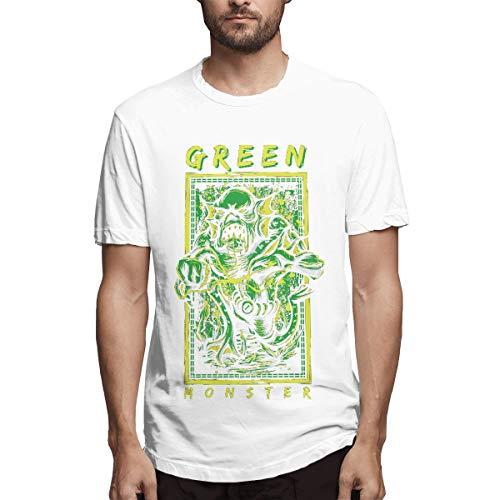 SPENCER Halloween Green Monster Novelty Men's T-Shirt Tee White -