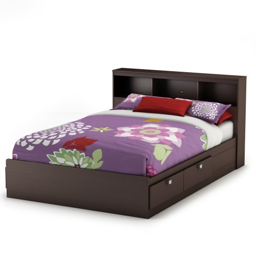 South Shore Furniture Cakao Collection Full Mates Bed, Chocolate - bedroomdesign.us
