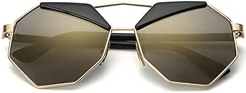 SojoS Super Lovers Polygon Round Cute Composite Two Tone Women Sunglasses SJ1016