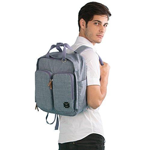 Bebamour Travel Backpack Diaper Bag Tote Handbag Purse (blue)