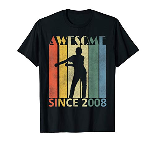 (11th Birthday Gift Awesome Since 2008 Flossing T-shirt)