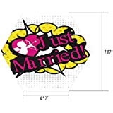 iPrint Hexagon Wall Sticker,Mural Decal,Wedding Decorations,Pop Art Style Design Cupid Bow Arrow Love in The Air Just Married Retro,Multicolor,for Home Decor 4.52x7.87 10 Pcs/Set