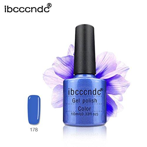 Oksale Ibcccndc 10ML Gel Nail Polish Nail Art Nail Gel Polish, Deep Sea Blue Series (178)