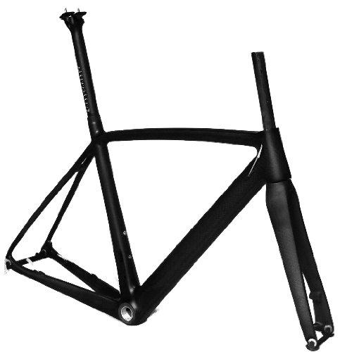 フルカーボン 3K マット ディスク ブレーキ ロードバイク 自転車 BSAフレーム フォーク シートポスト 50cm   B00G1K0L7K