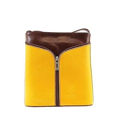 Women Tan Bag Vera Messenger Yellow Pelle Red TpPqPv6