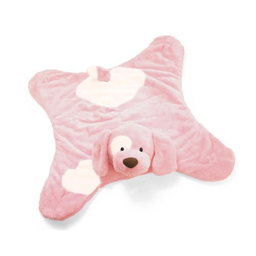 Baby GUND Spunky Comfy Cozy Stuffed Animal Plush Blanket, Pink, 24
