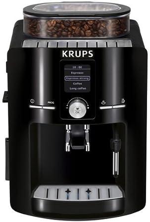 Krups EA8250 Independiente Totalmente automática Máquina espresso 1.8L Negro - Cafetera (Independiente, Máquina espresso, 1,8 L, Molinillo integrado, ...