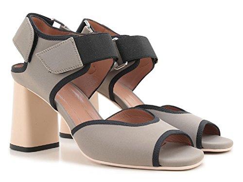 Marni abierta sandalias de tacones en tela gris - Número de modelo: SAMSU07C08 TCR86 00N26 Taupe
