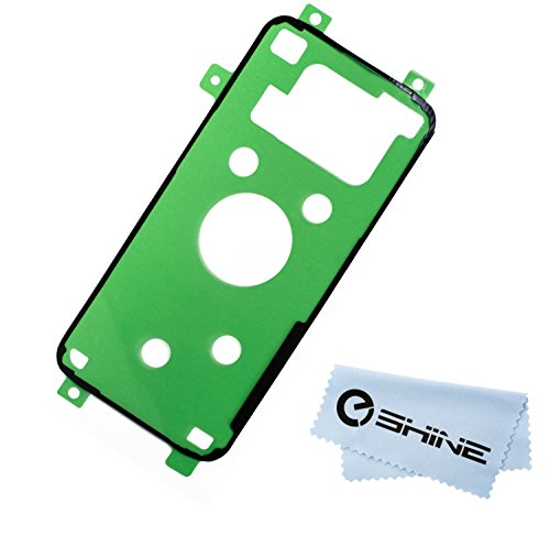EShine Battery Back Cover Adhesive Sticker for Samsung Galaxy S7 Edge G935 (ALL CARRIERS)+ EShine Cloth