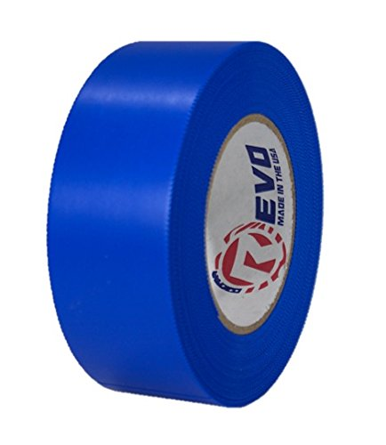 "REVO Preservation Tape / Heat Shrink Wrap Tape (2"" x 60 yards) MADE IN USA (BLUE) Poly Tape - Electrical Tape - Scaffold Wrap Tape (PINKED EDGE) SINGLE ROLL (HEAVY DUTY: 9 MIL THICKNESS)"