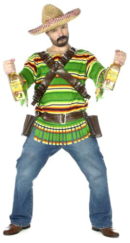 FunWorld Men's Tequila Pop N' Dude, Green, One Size Costume