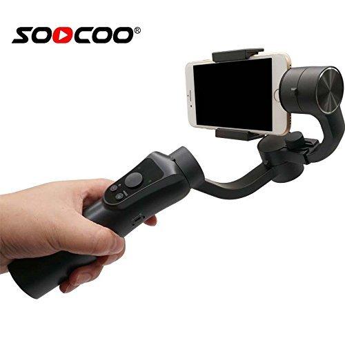 SOOCOO @ハンドヘルドジンバルスタビライザオブジェクト追跡サムスンのためのフォーカスプルiphoneのスマートフォンsjcamのためのEKENアクションカメラ   B07FRTM63Z