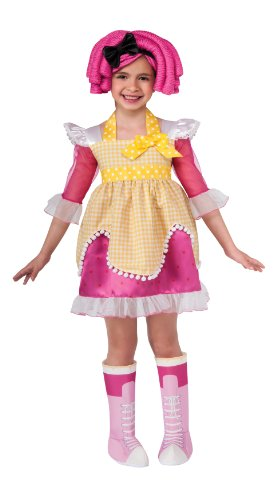 Lalaloopsy Deluxe Crumbs Sugar Cookie Costume - Toddler (Make Rag Doll Halloween Costume)