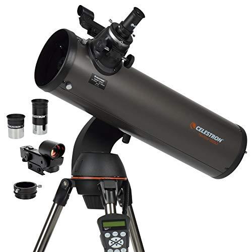 🥇 Celestron – NexStar 130SLT Computerized Telescope – Compact and Portable – Newtonian Reflector Optical Design – SkyAlign Technology – Computerized Hand Control – 130mm Aperture