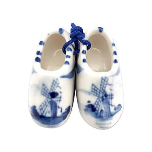 Delft Blue Wooden Shoes /Pair - Shoe Blue Dutch