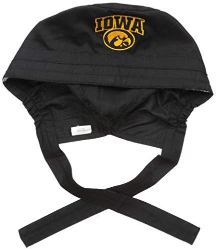 WonderWink Men's University of Iowa Scrub Cap, Black 1SZ