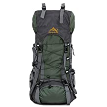 YUSHOP 55L Internal Frame Backpack Camping Hiking, Backpacking Packs for Outdoor Hiking Travel Climbing Mountaineering