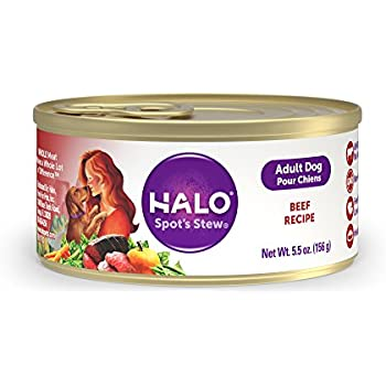 Halo Holistic Wet Dog Food, Beef, 5.5 OZ of Canned Dog Food, 12 Cans