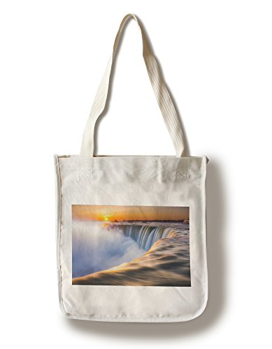 Niagara Falls, New York - Morning Sunrise (100% Cotton Tote Bag - - York Shopping Falls Niagara New In