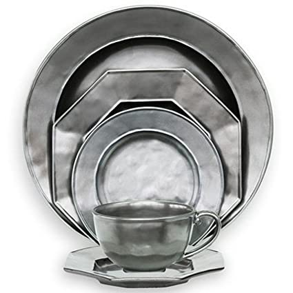 Juliska Pewter Stoneware 5pc Round Setting (kp01 Kp05)