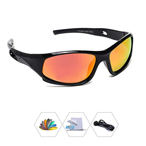 78e2ed6abf AODUOKE Sports Polarized Kids Sunglasses For Boys Girls Children Mirrored  Lens Sunglasses With Strap