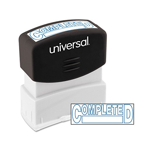 (Universal 10044 Message Stamp, Completed, Pre-Inked One-Color, Blue Ink)