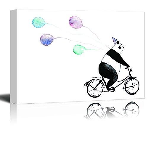 Animal Series Panda Riding a Bicycle Gallery