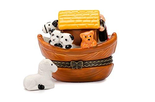 (Noah's Ark Hinged Trinket Box phb NEW)