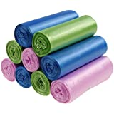 Cand 6 Gallon Colored Garbage Bags, 9 Rolls, 180 Counts